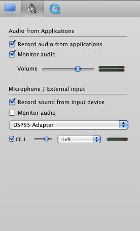 iShowU audio settings